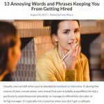 13 Annoying Words and Phrases Keeping You From Getting Hired